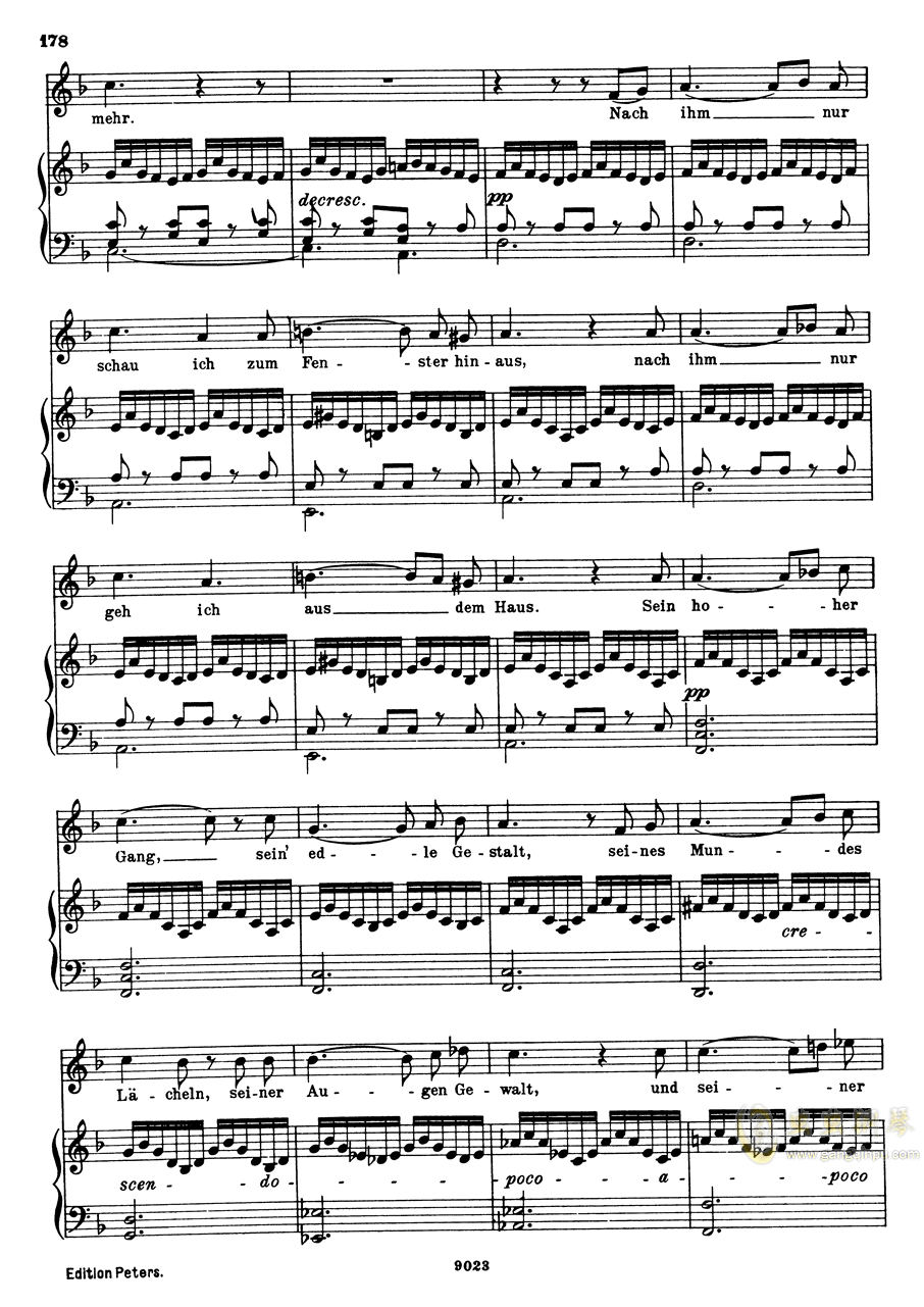 纺车旁的格丽卿钢琴谱 第3页