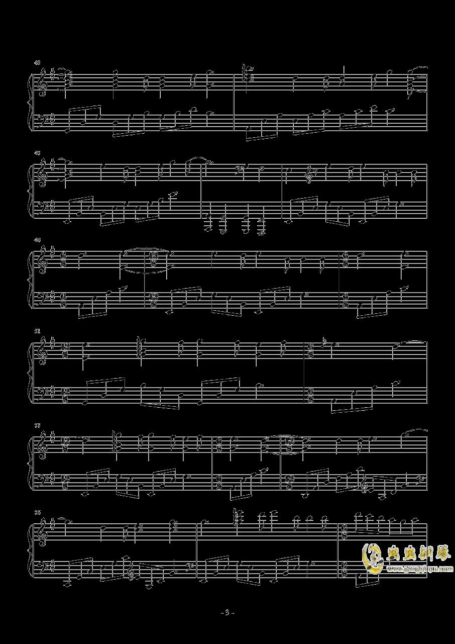 巴赫 E小调布列舞曲钢琴谱 第3页