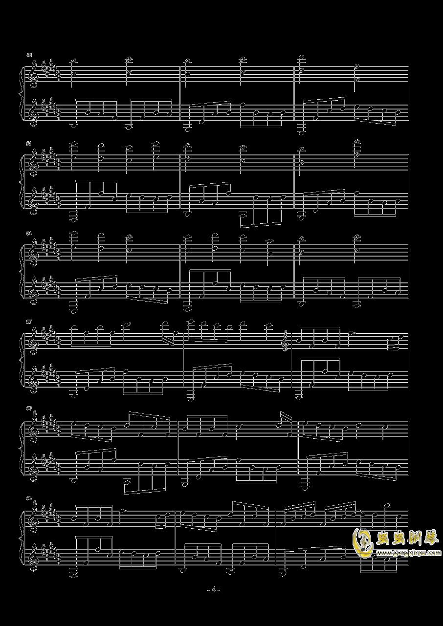 森林钢琴谱 第4页