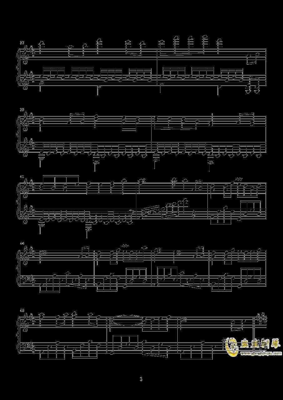 Dear Childhood Friend钢琴谱 第3页