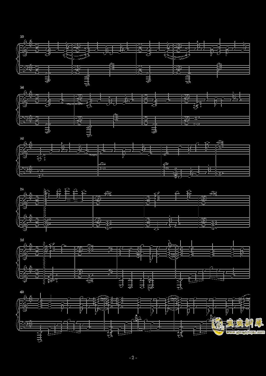 小夜曲钢琴谱 第2页