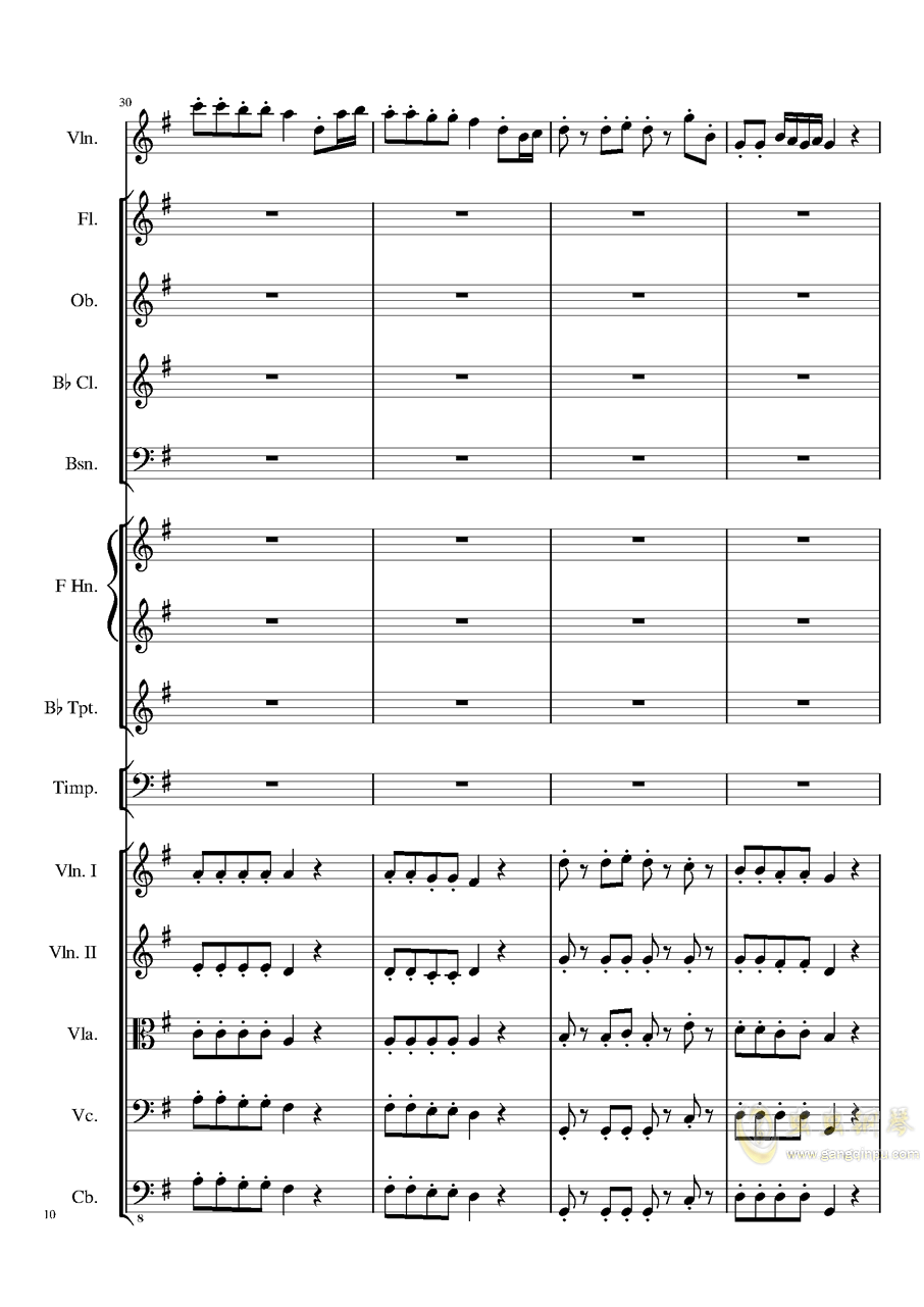 Rondo in G, Op.137钢琴谱 第10页