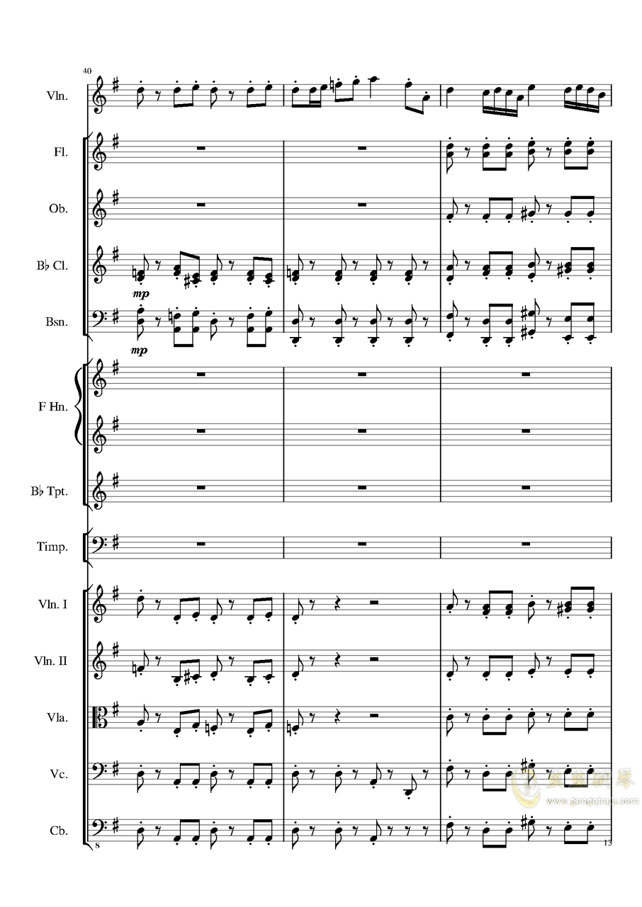 Rondo in G, Op.137钢琴谱 第13页