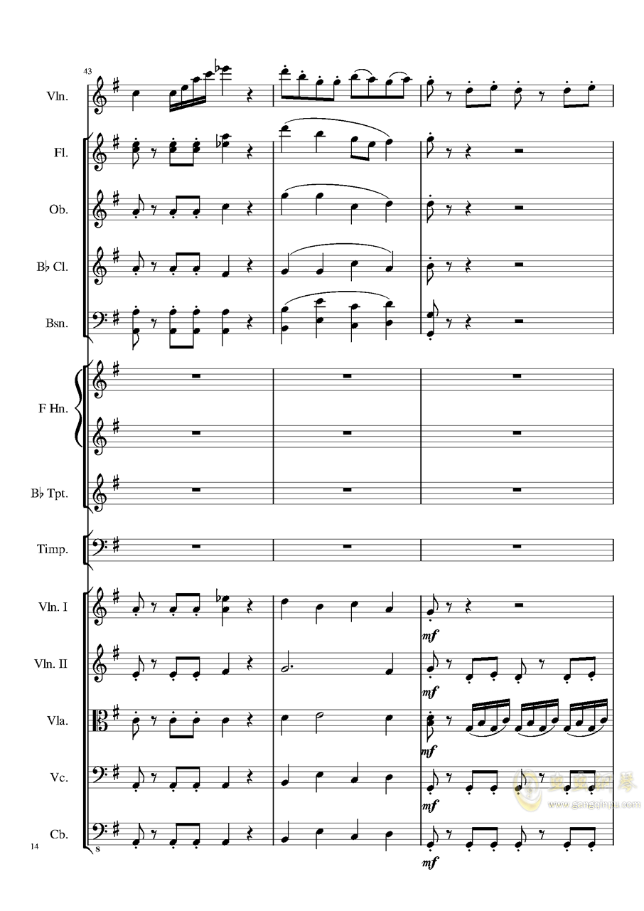Rondo in G, Op.137钢琴谱 第14页
