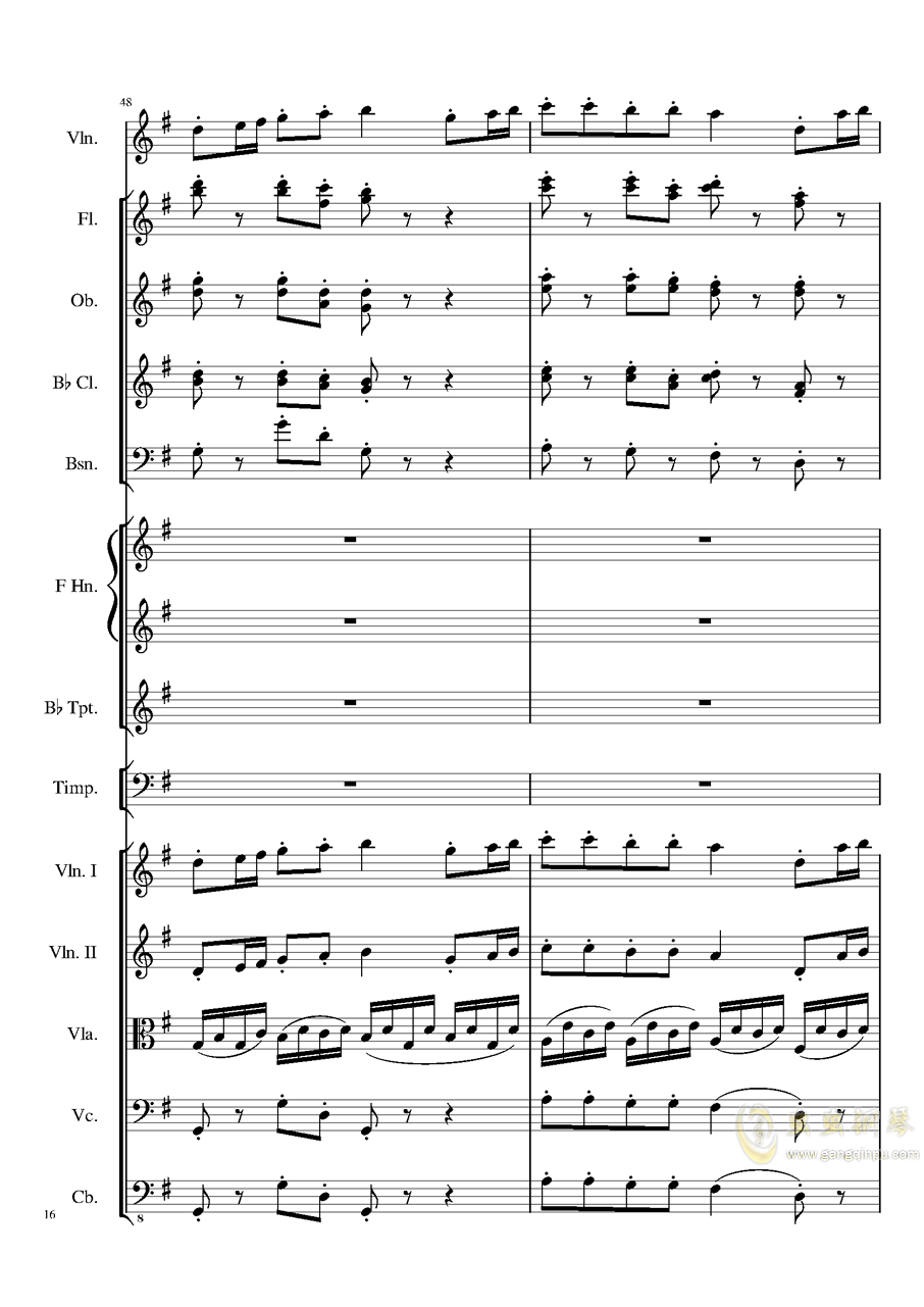 Rondo in G, Op.137钢琴谱 第16页
