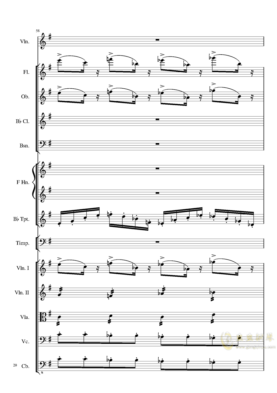 Rondo in G, Op.137钢琴谱 第20页