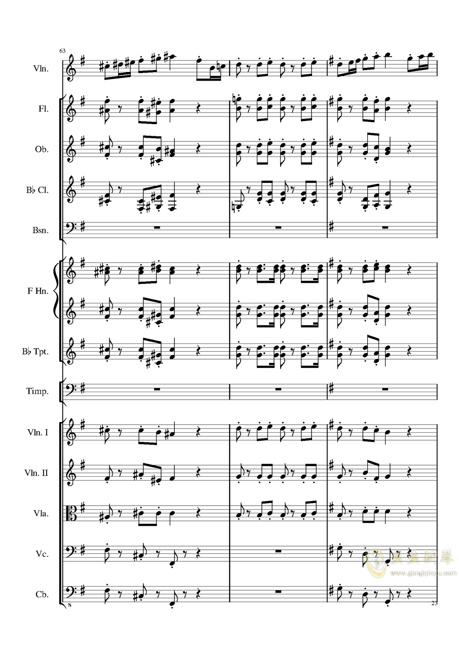 Rondo in G, Op.137钢琴谱 第23页