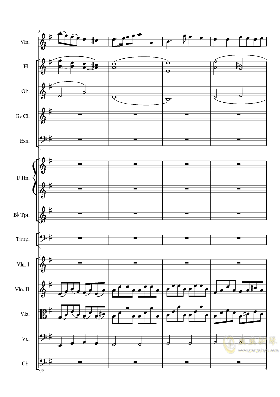 Rondo in G, Op.137钢琴谱 第5页
