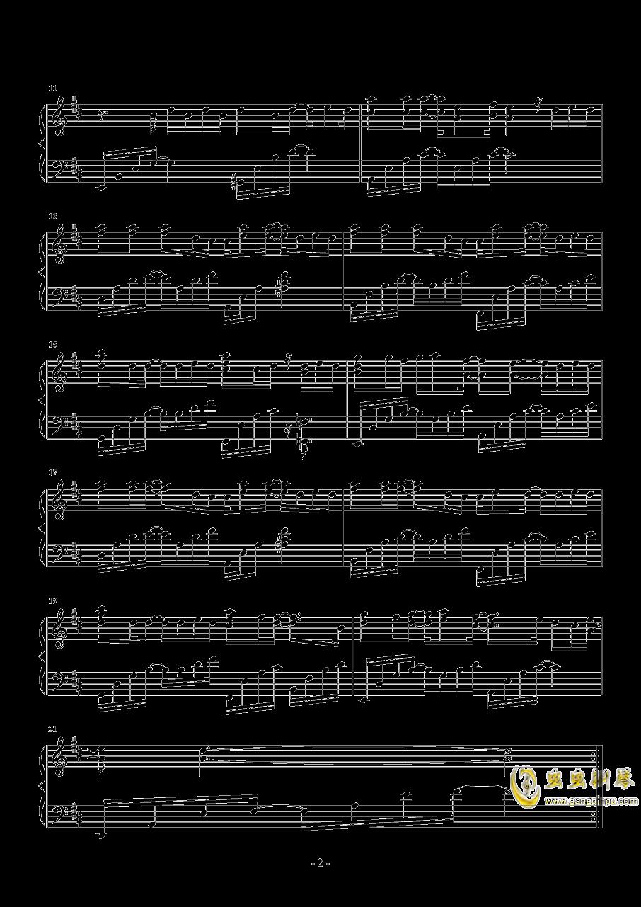 失眠钢琴谱 第2页