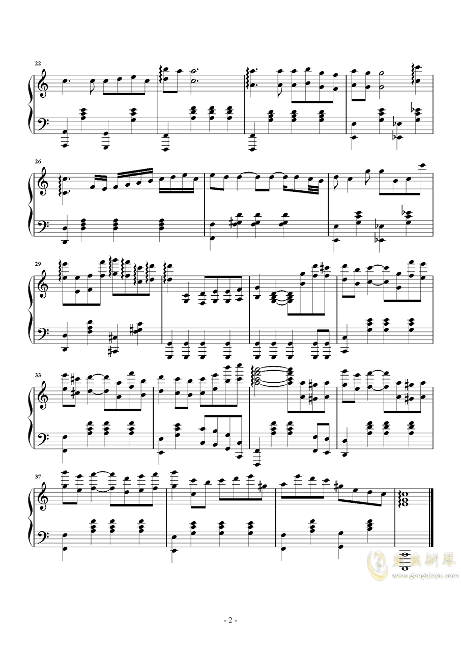 Passion钢琴谱 第2页