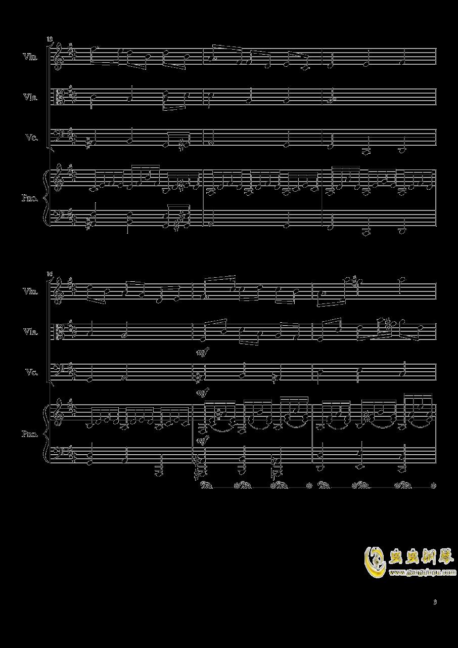 Autumn Song Op.111b钢琴谱 第3页