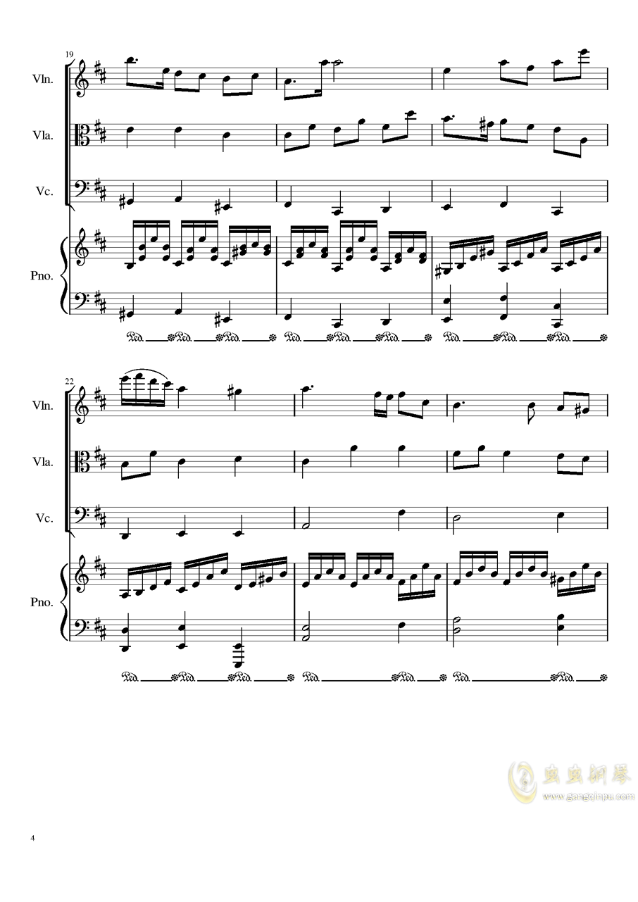 Autumn Song Op.111b钢琴谱 第4页