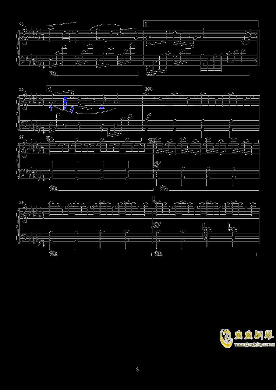 镜钢琴谱 第3页