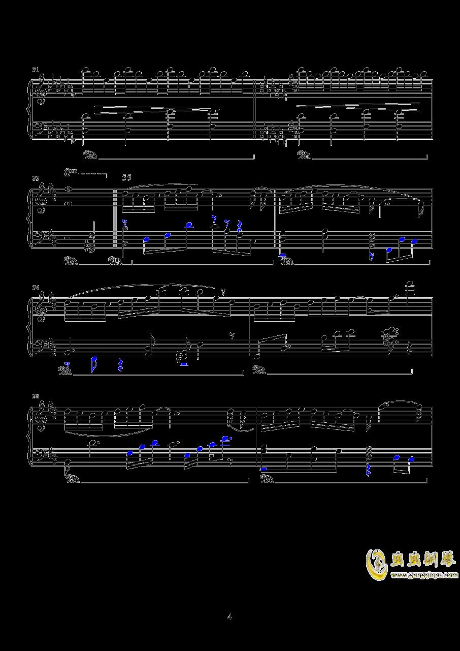 镜钢琴谱 第4页