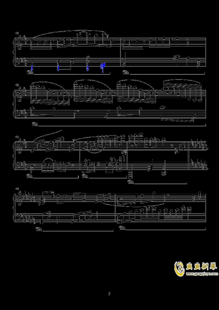 镜钢琴谱 第5页