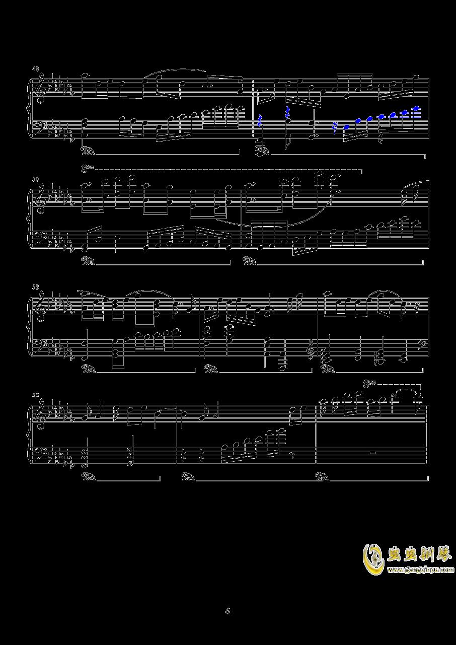 镜钢琴谱 第6页
