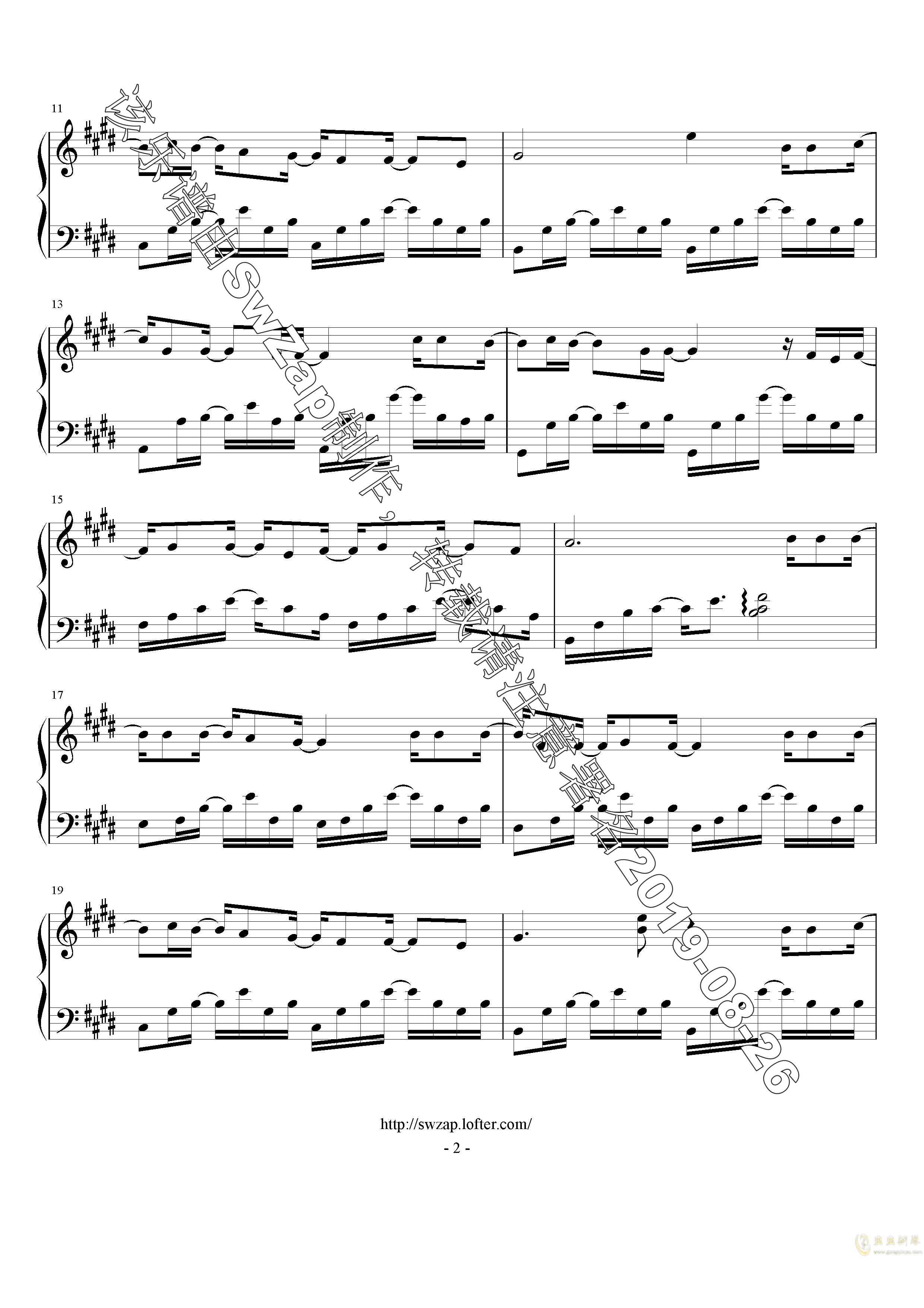 对的时间点钢琴谱 第2页