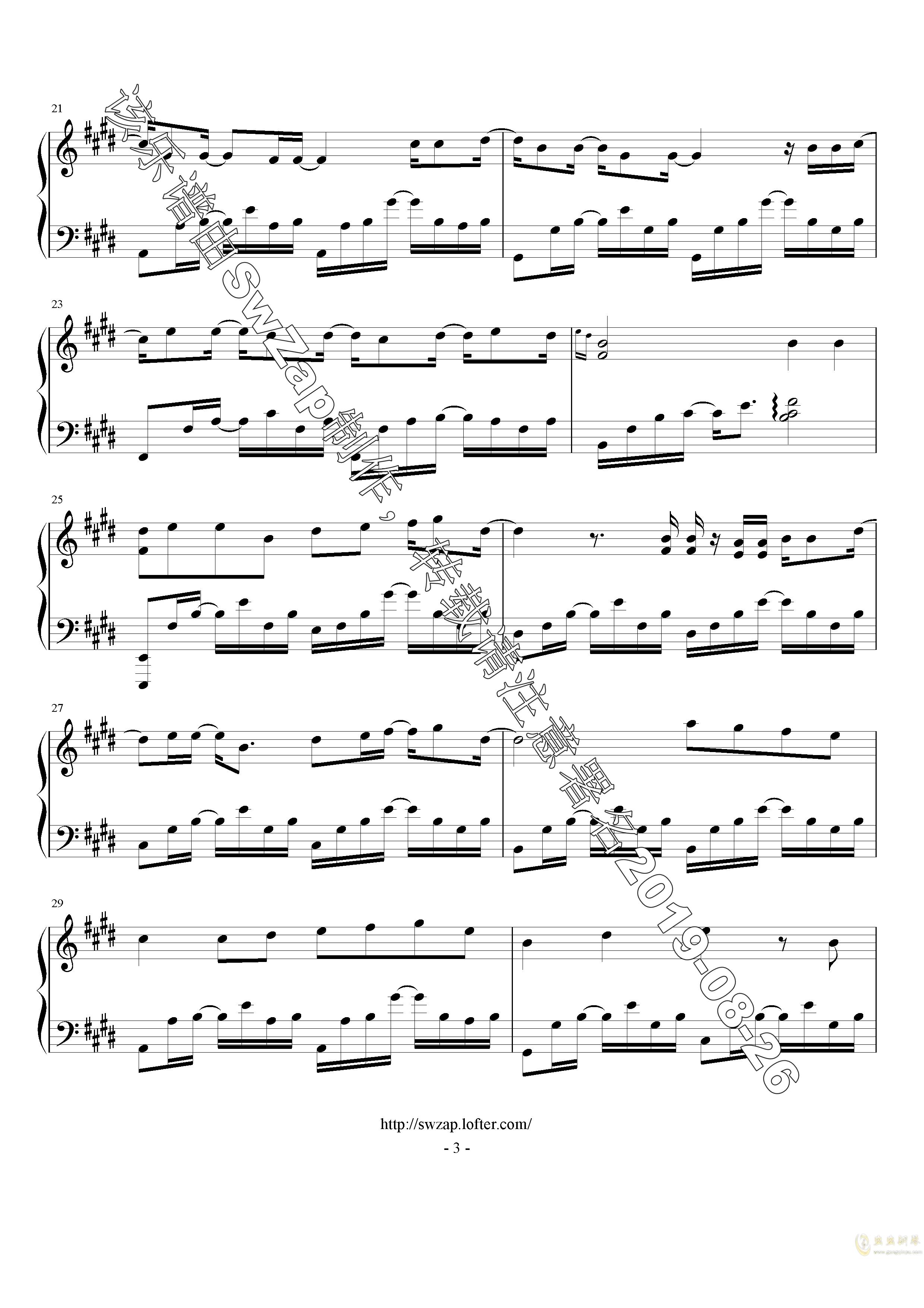 对的时间点钢琴谱 第3页