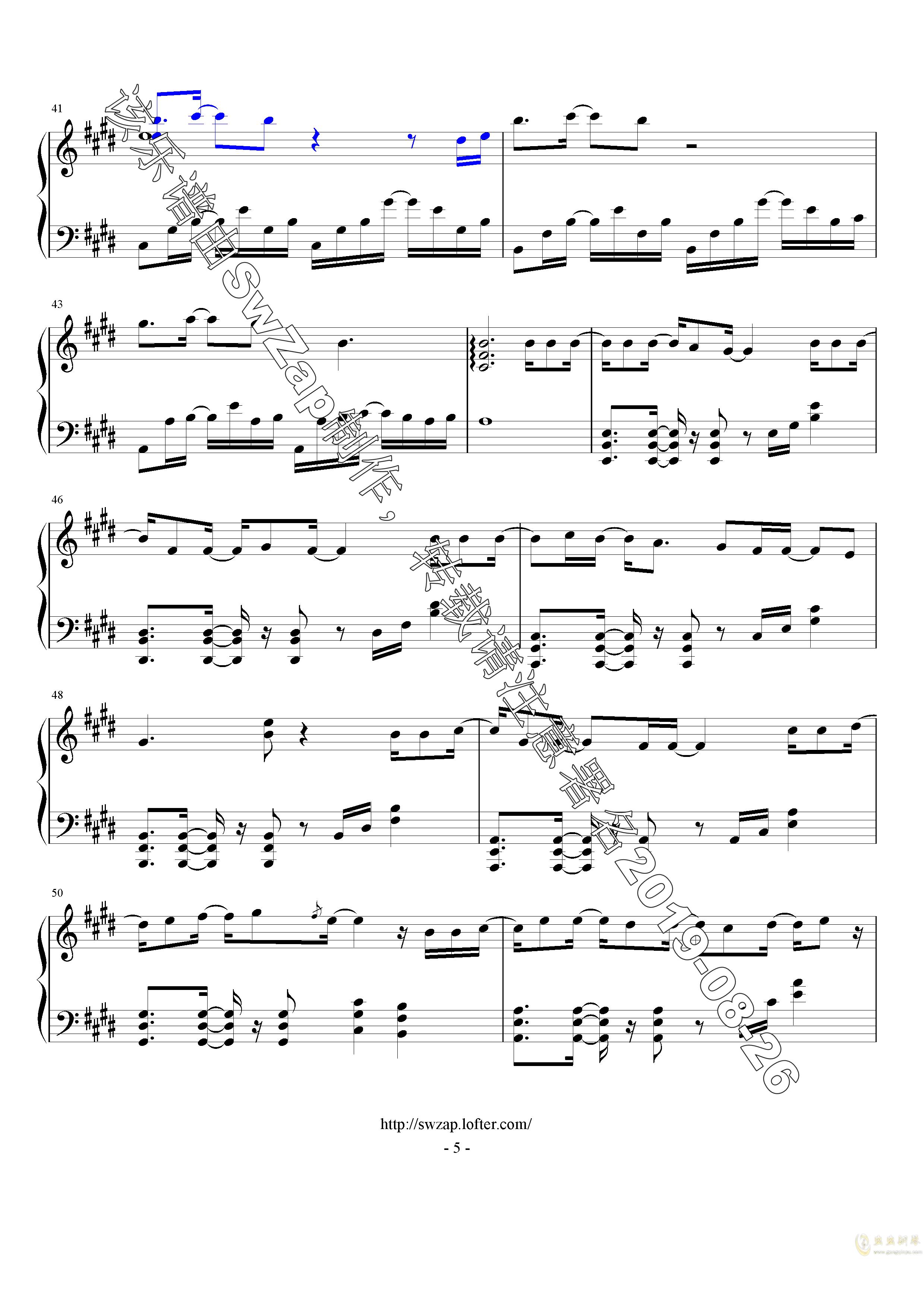 对的时间点钢琴谱 第5页