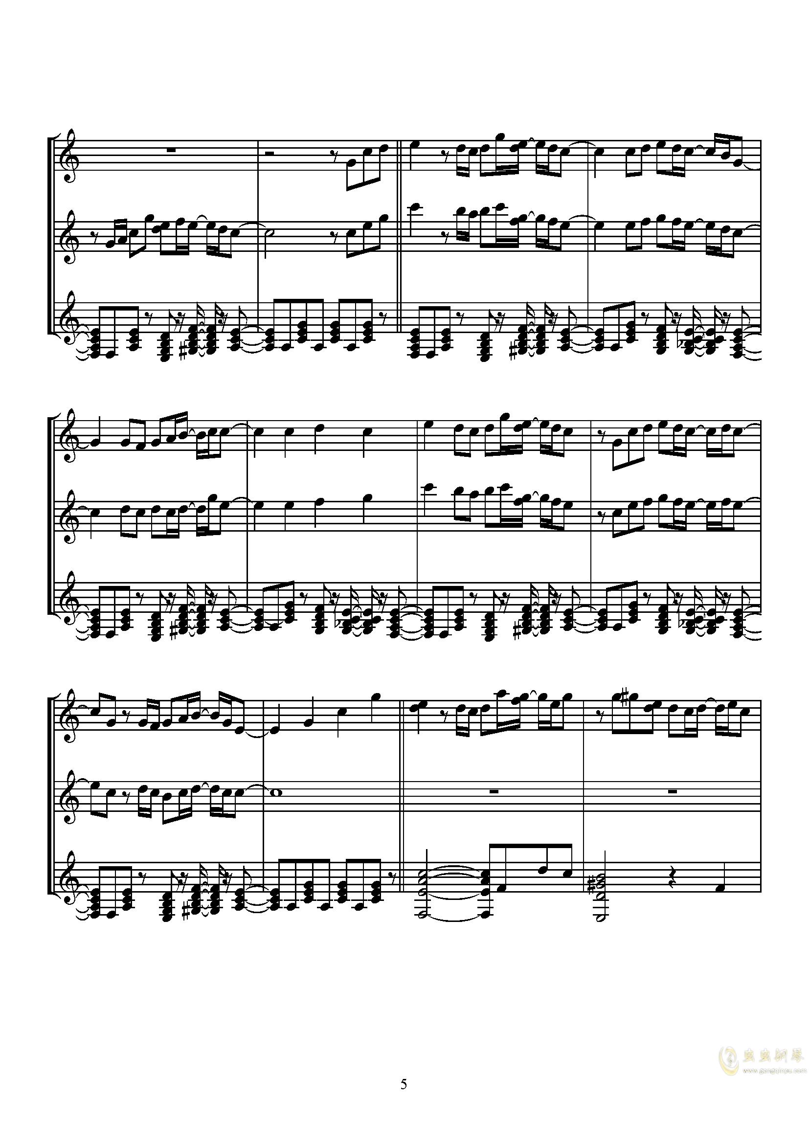 Sugar Magic钢琴谱 第5页