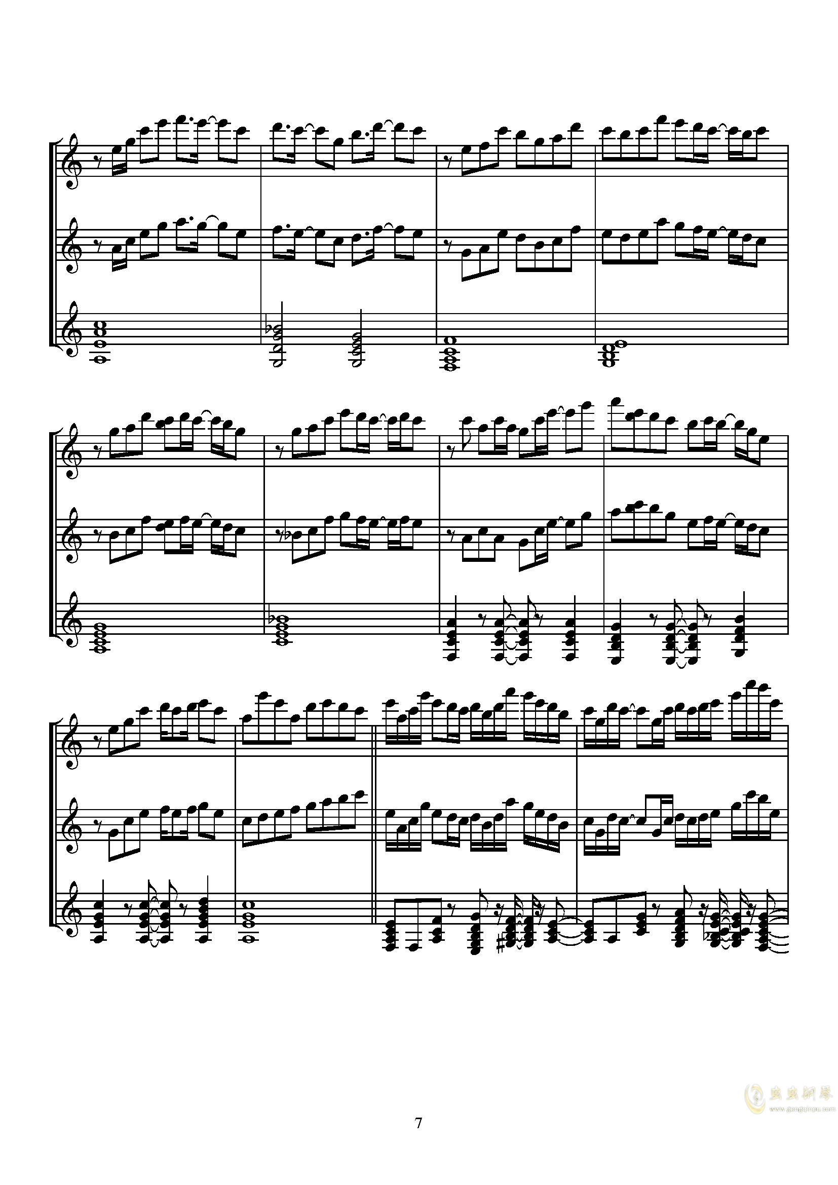 Sugar Magic钢琴谱 第7页