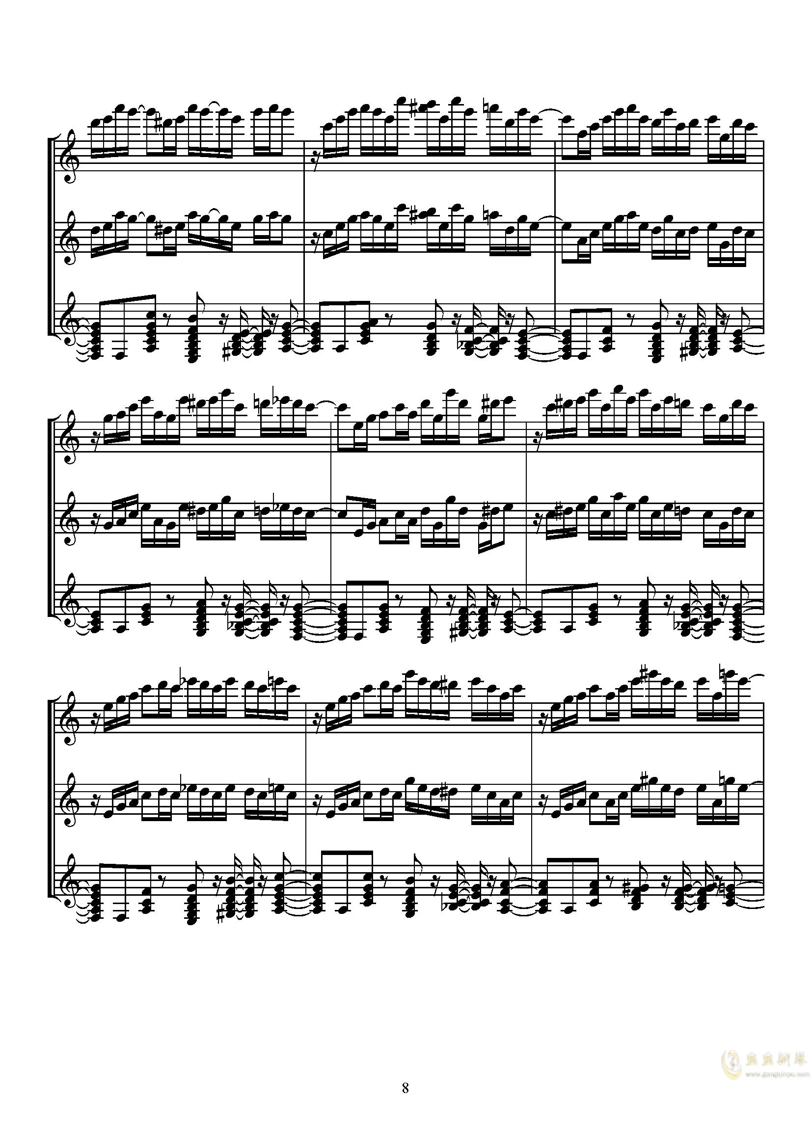 Sugar Magic钢琴谱 第8页