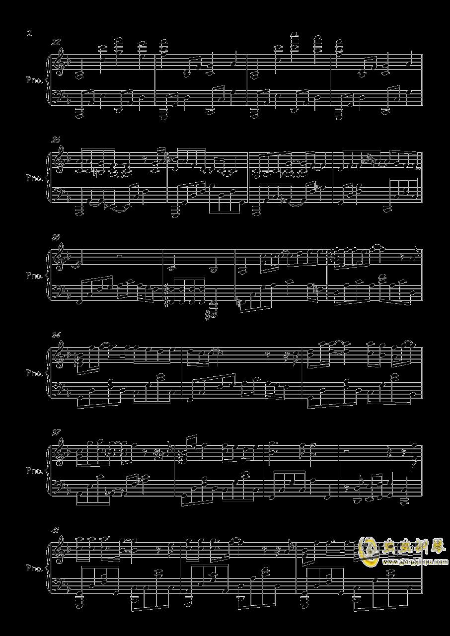 华生钢琴谱 第2页