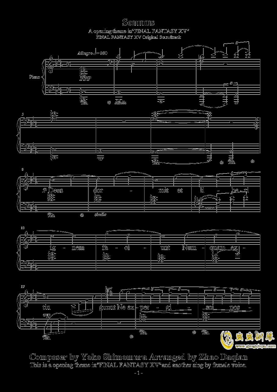 Somnus钢琴谱 第1页