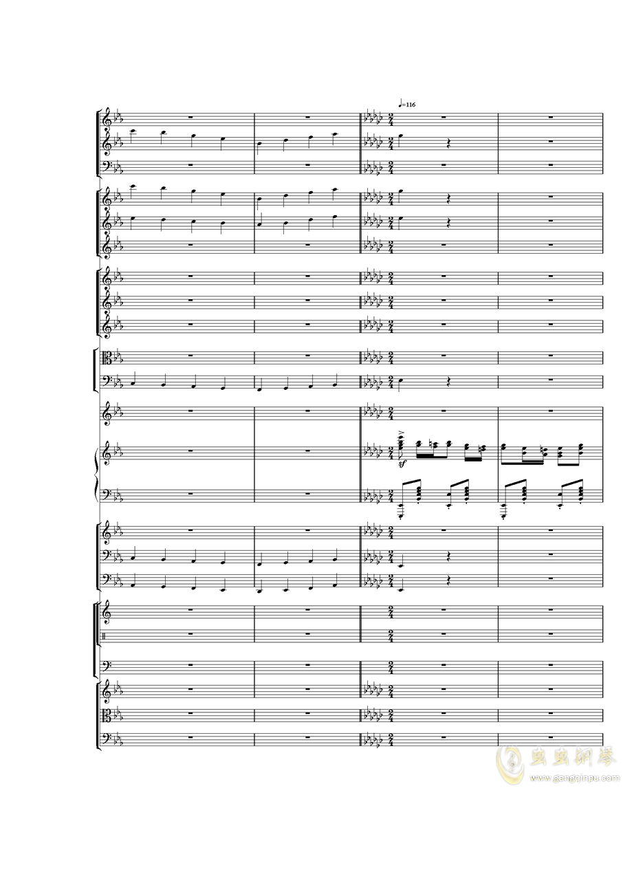 Piano Concerto No.3 in E Flat minor,I.Moderto钢琴谱 第28页
