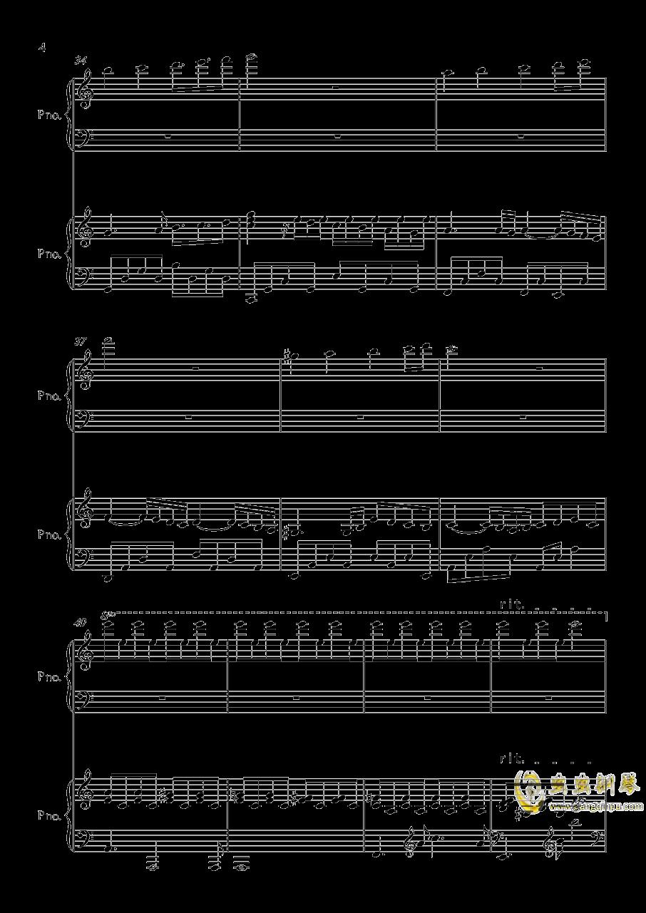 帕萨卡利亚钢琴谱 第4页