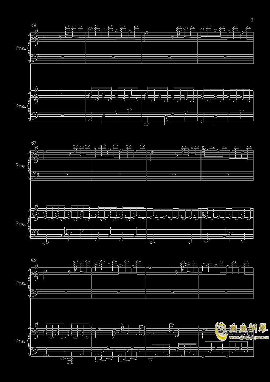 帕萨卡利亚钢琴谱 第5页