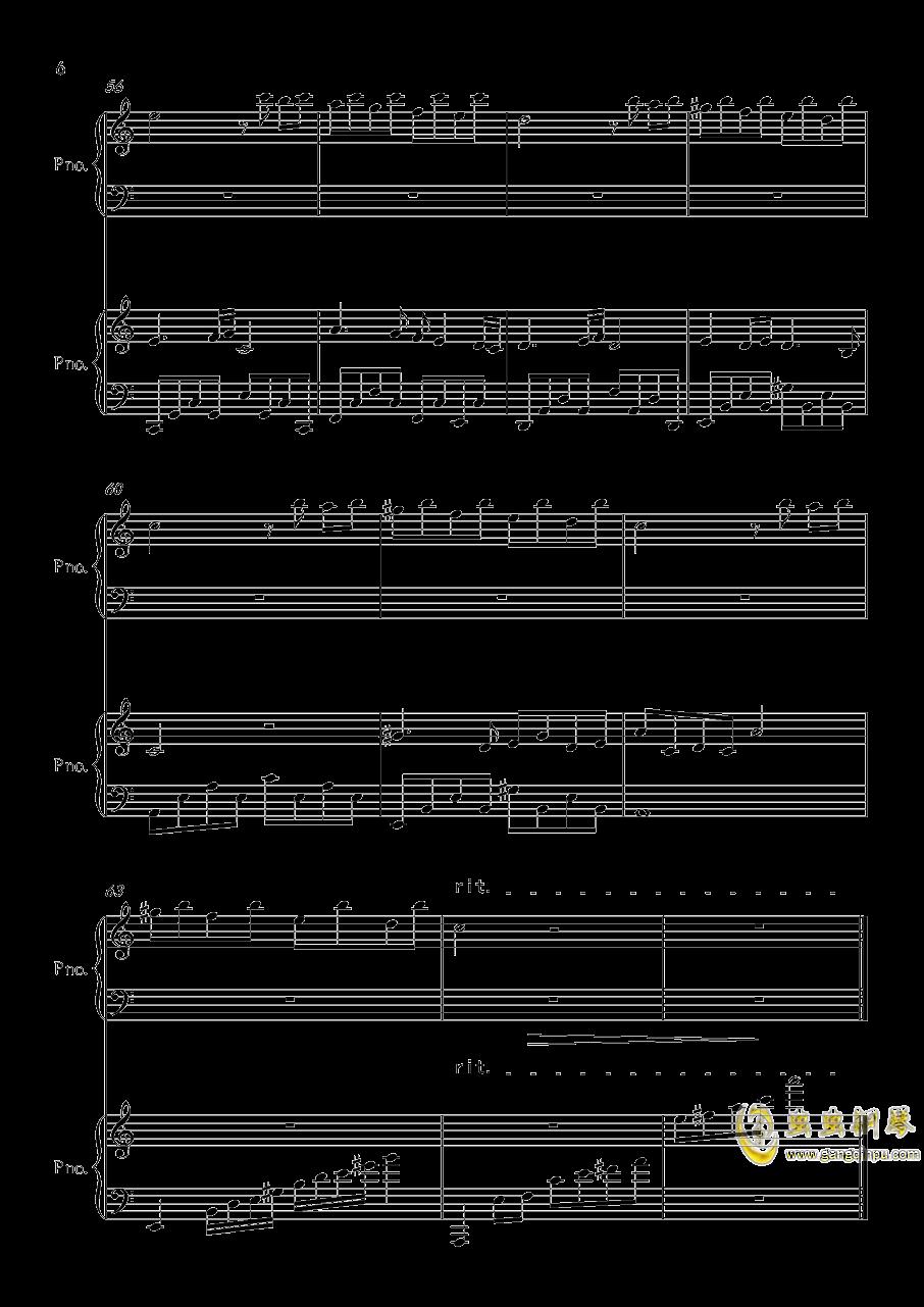 帕萨卡利亚钢琴谱 第6页