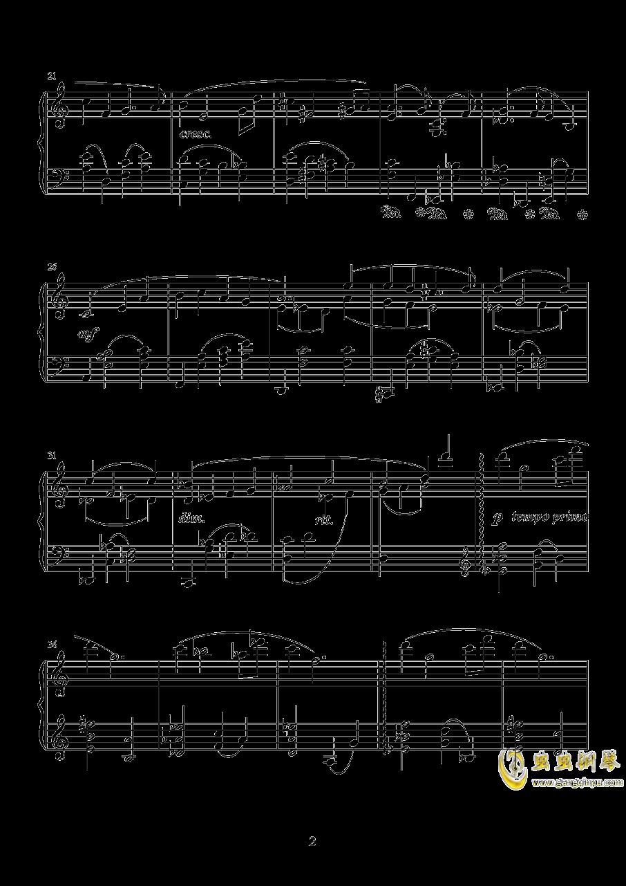 黄昏的等待钢琴谱 第2页