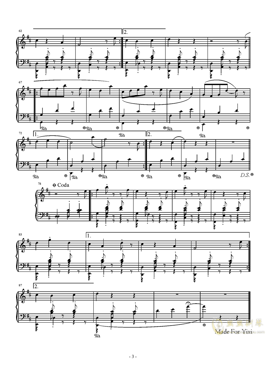 猫的舞步钢琴谱 第3页