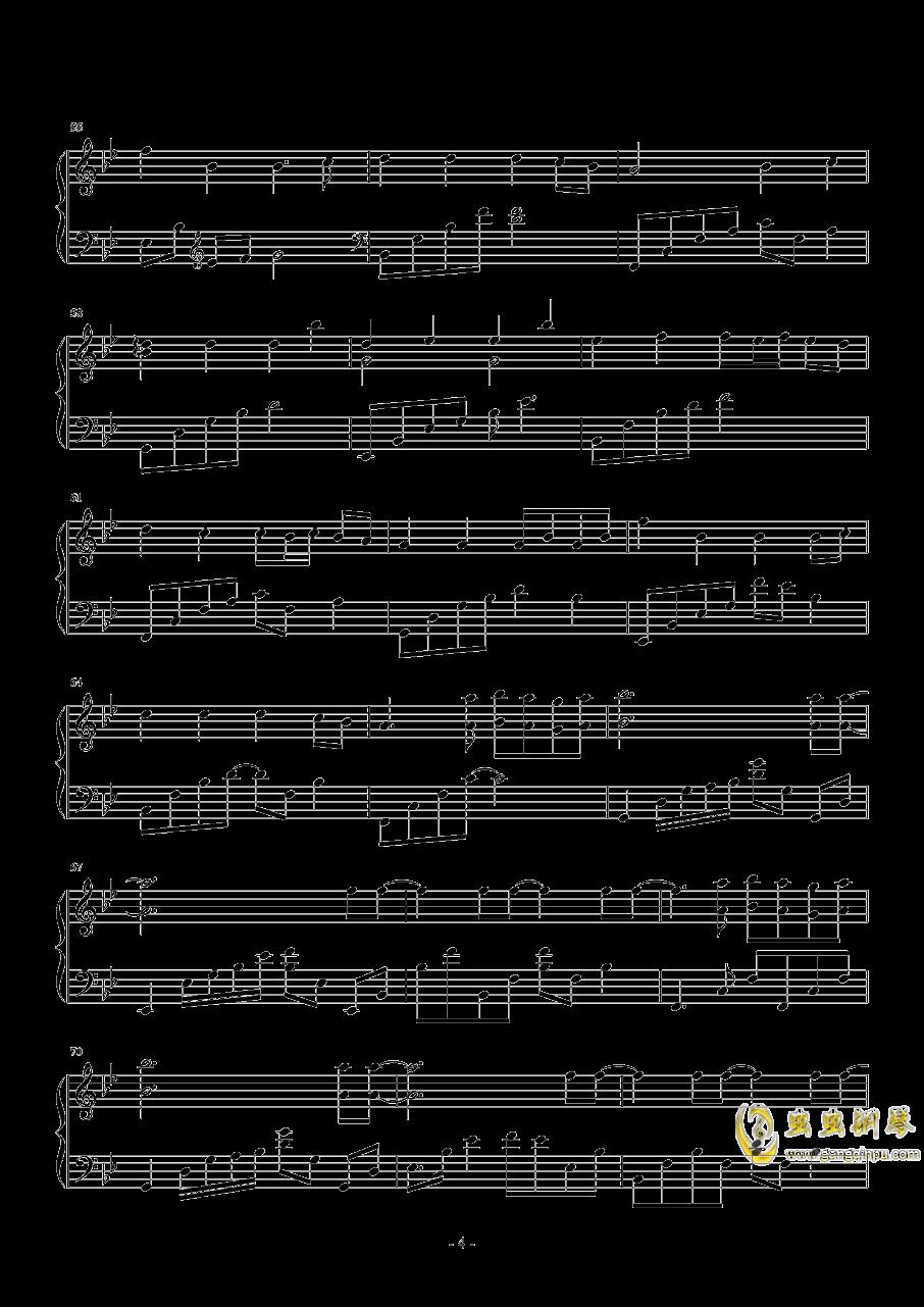 来自天堂的魔鬼钢琴谱 第4页