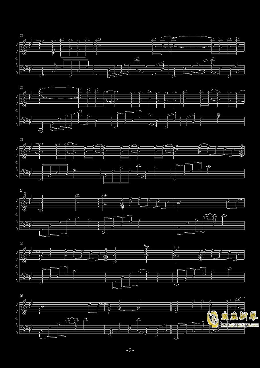 来自天堂的魔鬼钢琴谱 第5页