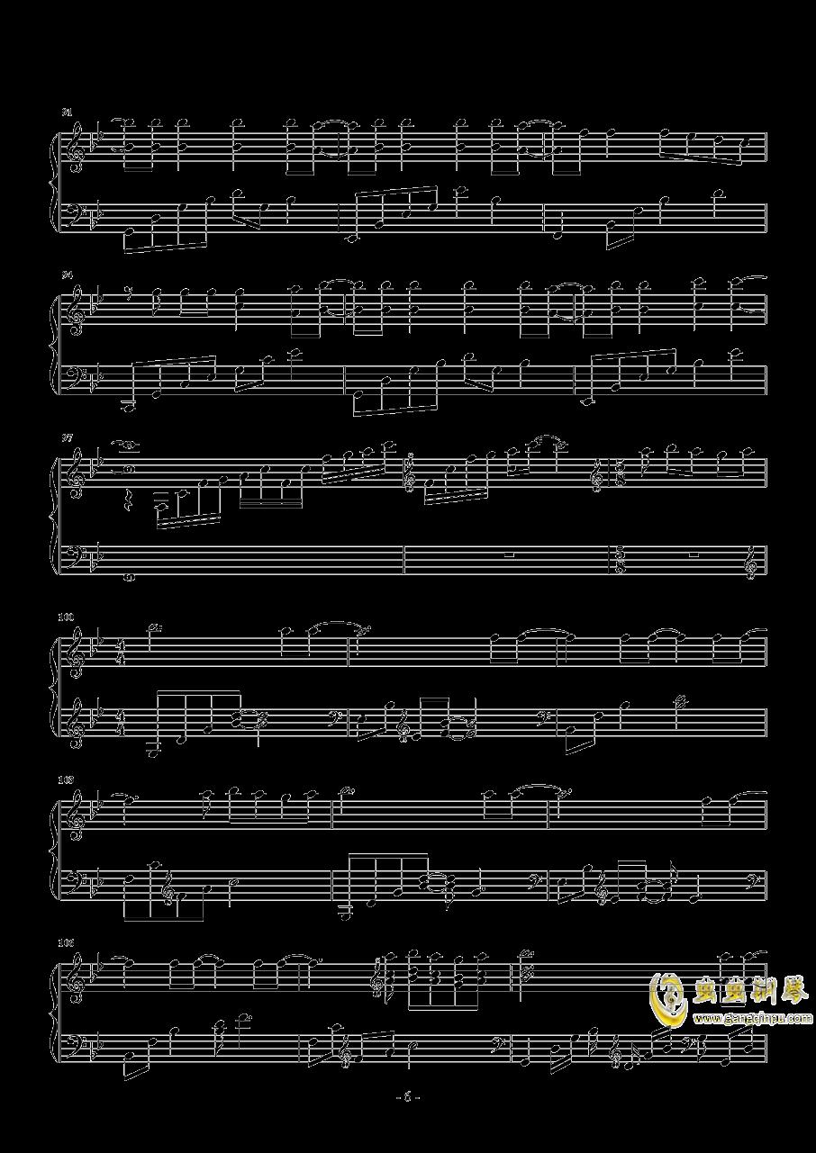 来自天堂的魔鬼钢琴谱 第6页
