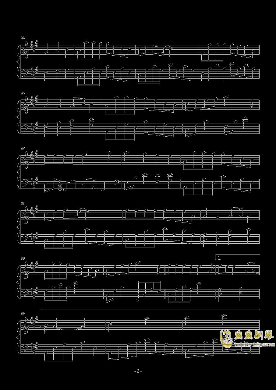 小欢喜钢琴谱 第2页