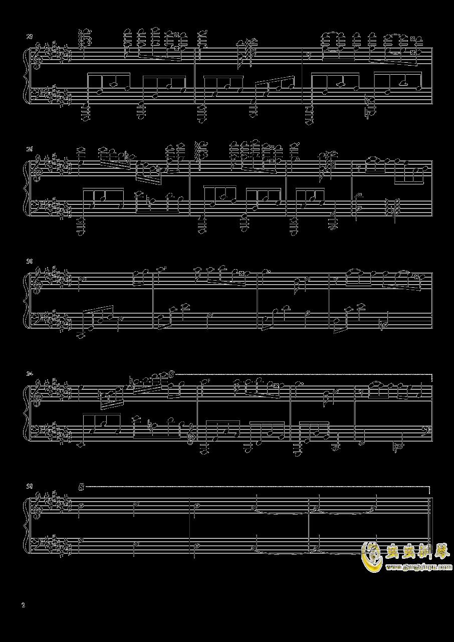 灯夜钢琴谱 第2页