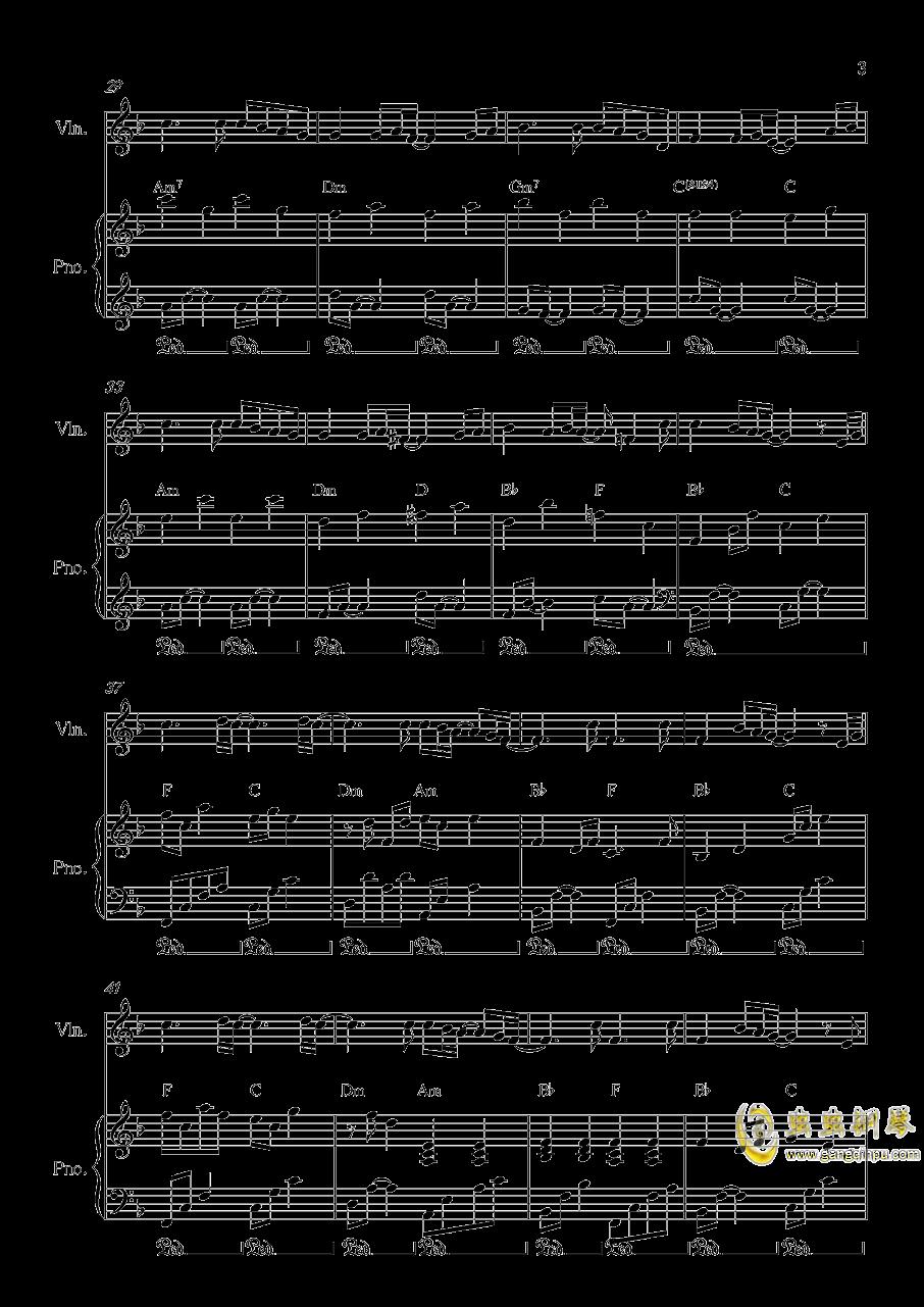 Long and deep X钢琴谱 第3页