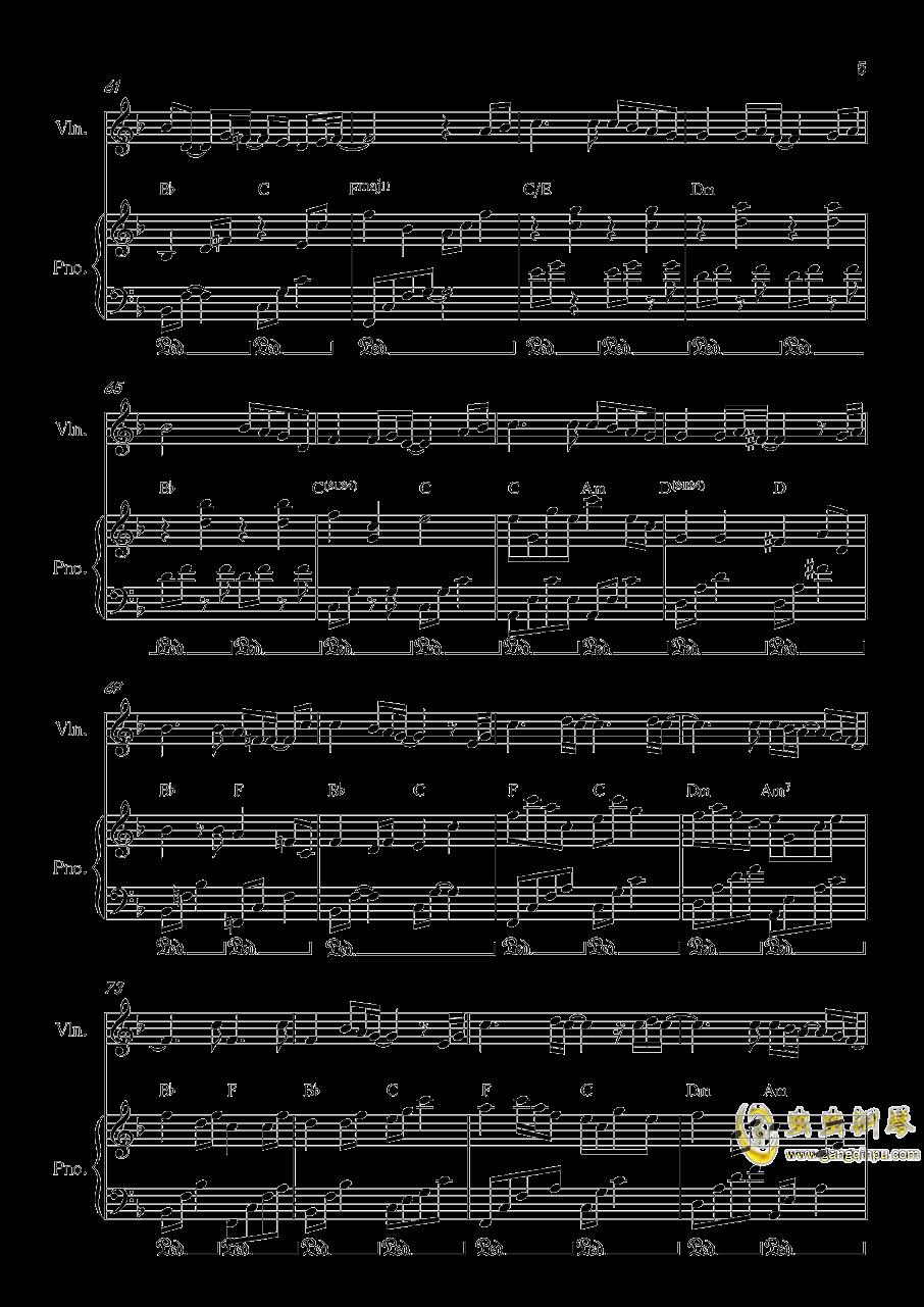 Long and deep X钢琴谱 第5页