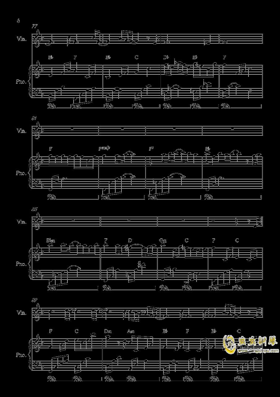 Long and deep X钢琴谱 第6页