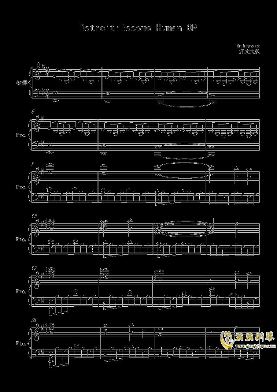 底特律OP钢琴谱 第1页