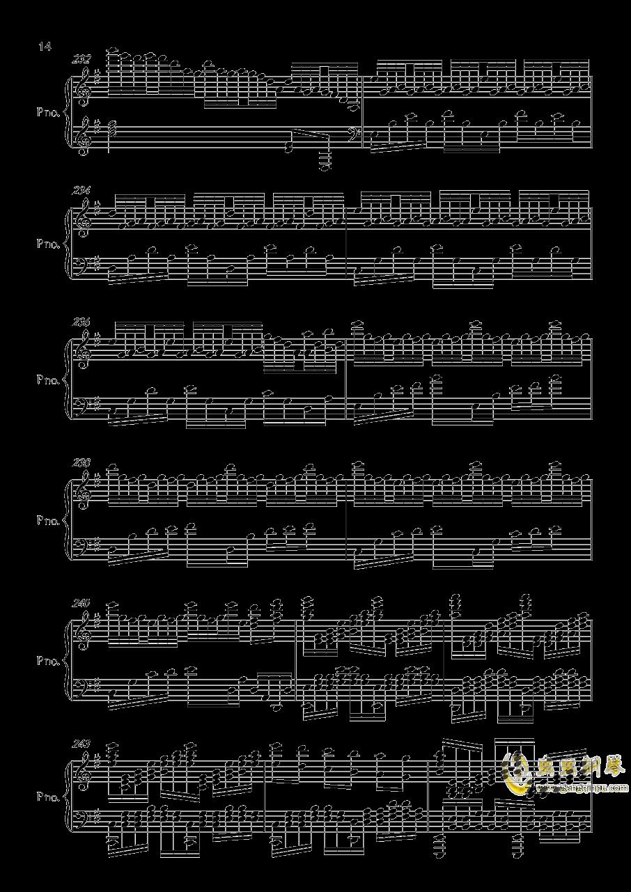 底特律OP钢琴谱 第14页