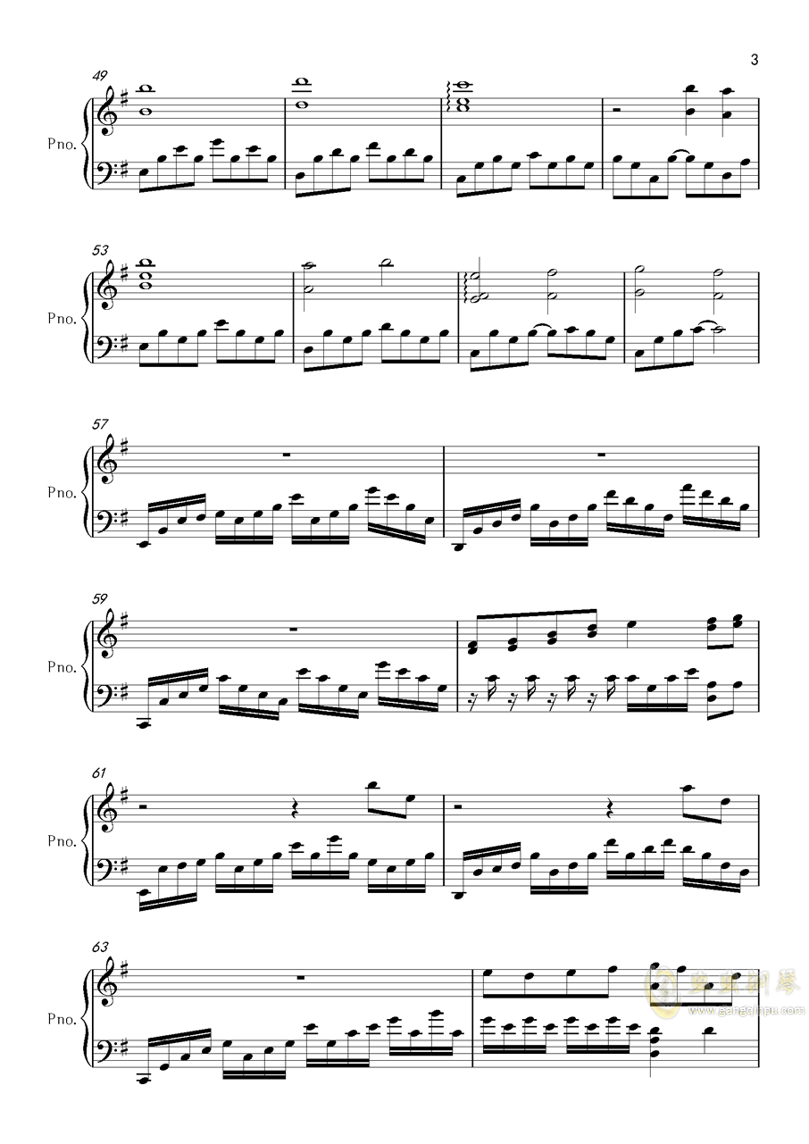 底特律OP钢琴谱 第3页