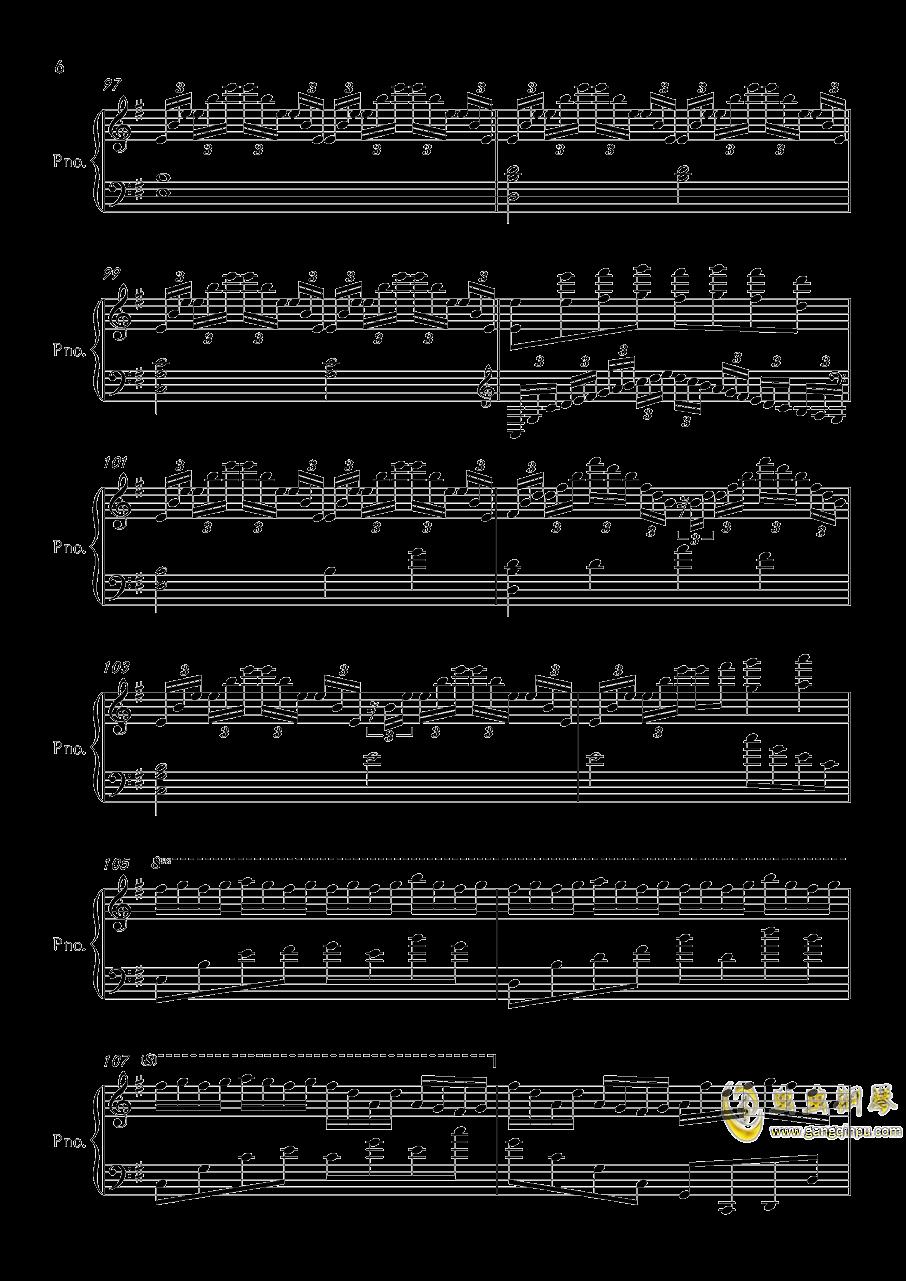 底特律OP钢琴谱 第6页