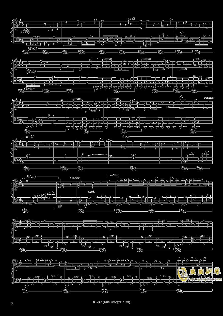 Um etude para princesas de diabo钢琴谱 第2页