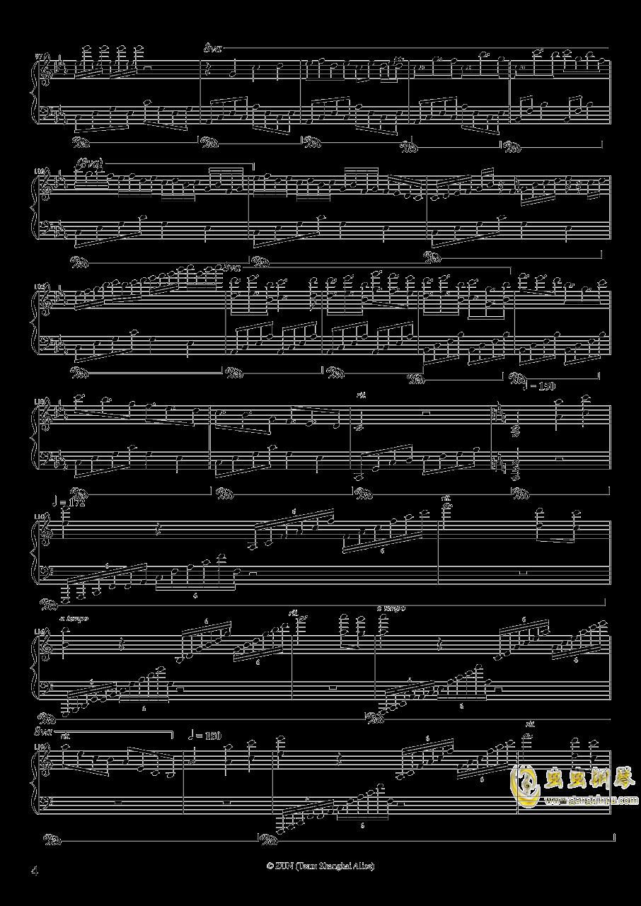 Um etude para princesas de diabo钢琴谱 第4页