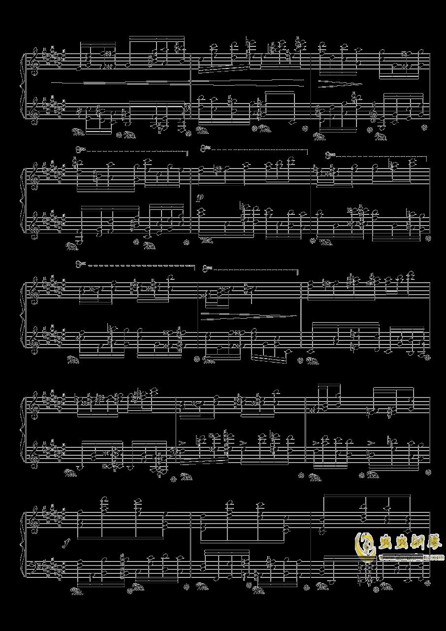 戈多夫斯基练习曲OP25NO9-1钢琴谱 第2页