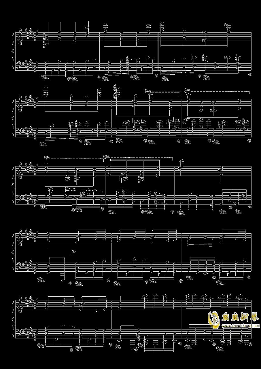 戈多夫斯基练习曲OP25NO9-1钢琴谱 第3页